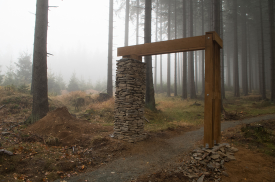 Galeria Międzygórze – Hala pod Śnieżnikiem - Śnieżnik - wejście zielony - zejście niebieski/żółty